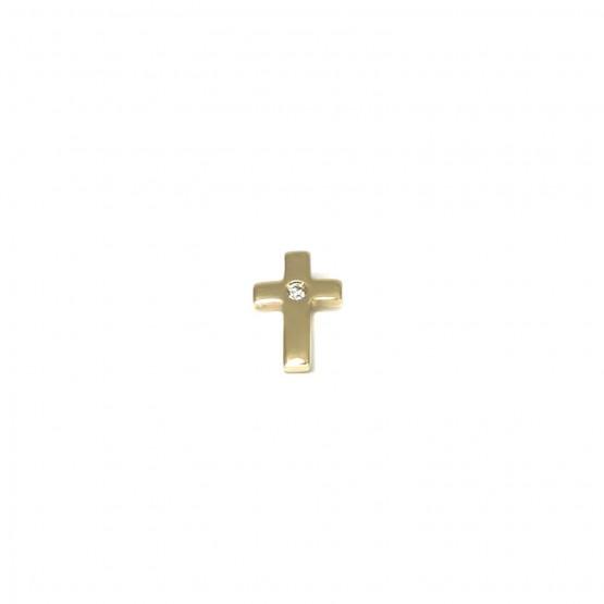 Zierliches Goldkreuz mit Diamant