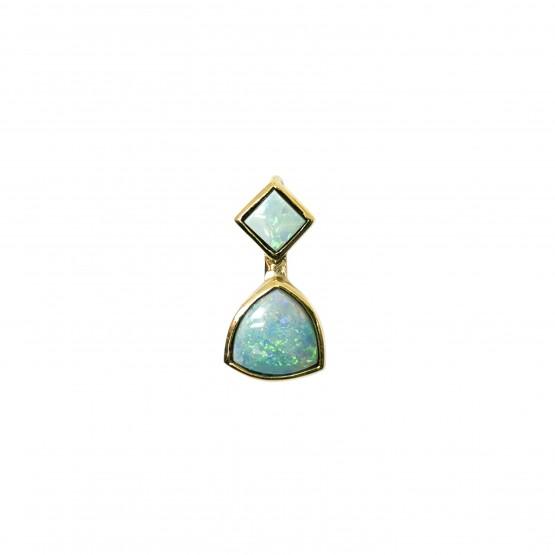 Goldanhänger mit zwei Opalen