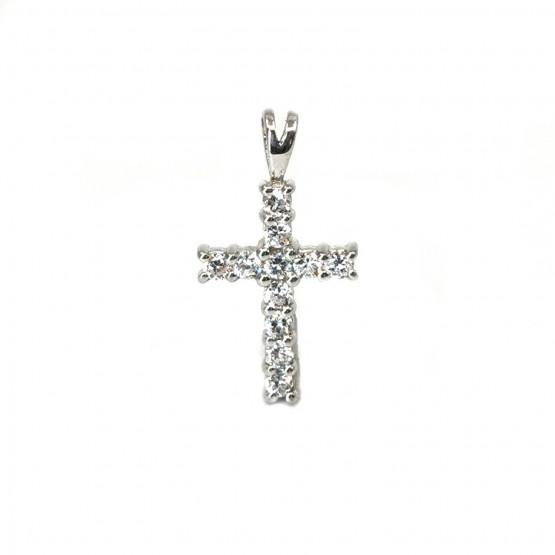 Funkelndes Silberkreuz