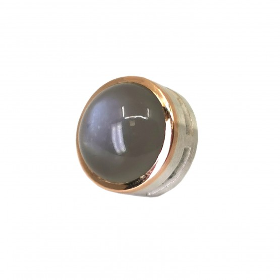 Grauer Mondstein Silberanhänger