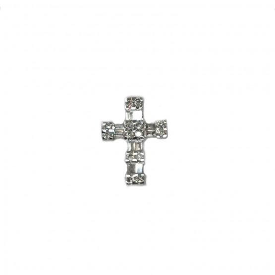 Diamantenbesetztes Weißgoldkreuz
