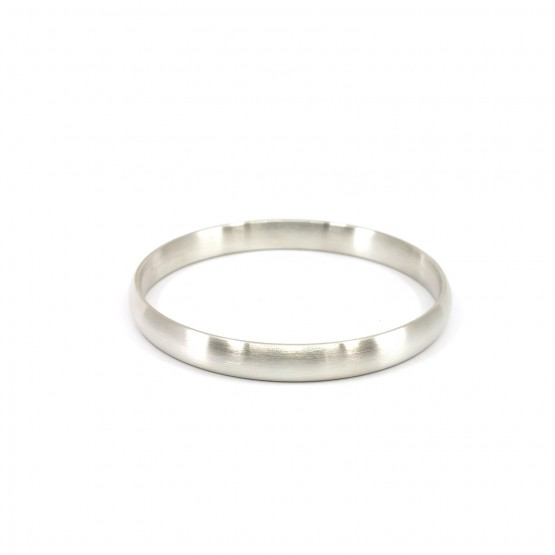 Silberarmreif 8 mm gewölbt