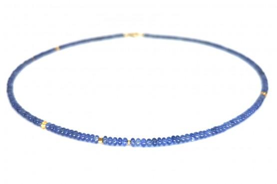 Zierliche Saphir Goldkette