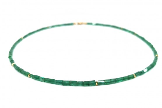 Intensive Smaragd Goldkette