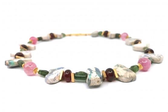 Ausdrucksstarke Naturbrocken Opal - Unikatkette