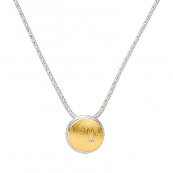 """Halskette """"Goldene Ronde"""" mit Brillant"""