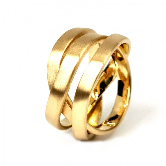 Gelbgold Wickelring