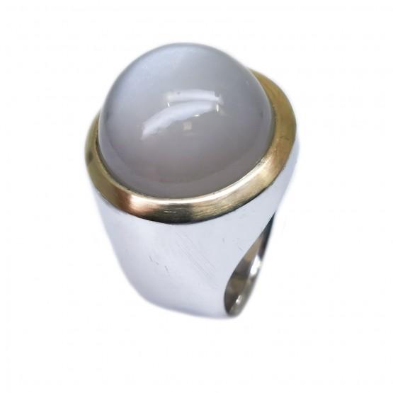 Großer Mondstein Silberring