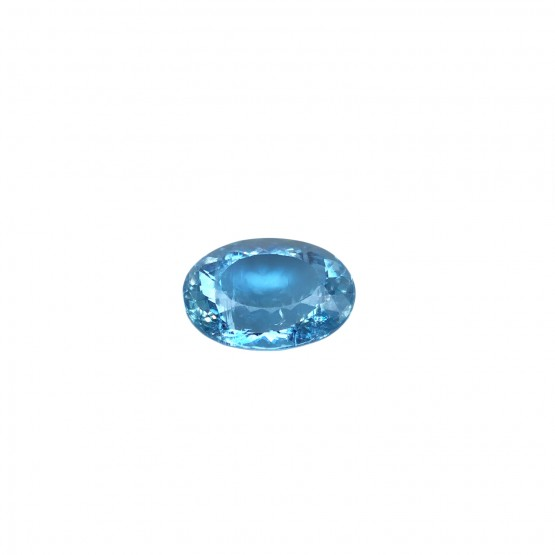 Aquamarin oval facettiert ca. 15,5x12 mm