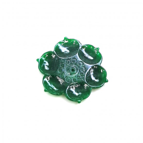 Jade runde Gravur ca. 20 mm