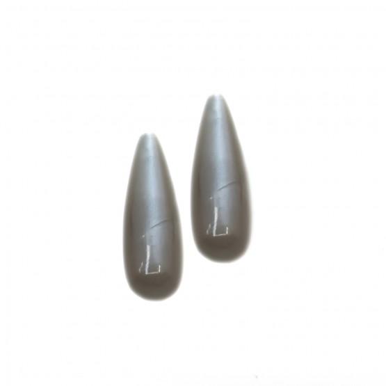 Mondstein Pampeln Cabochon 24x7,5 mm Paar