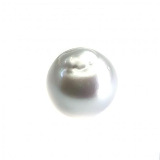 Südseeperle silbriges Weiß ca. 12 mm