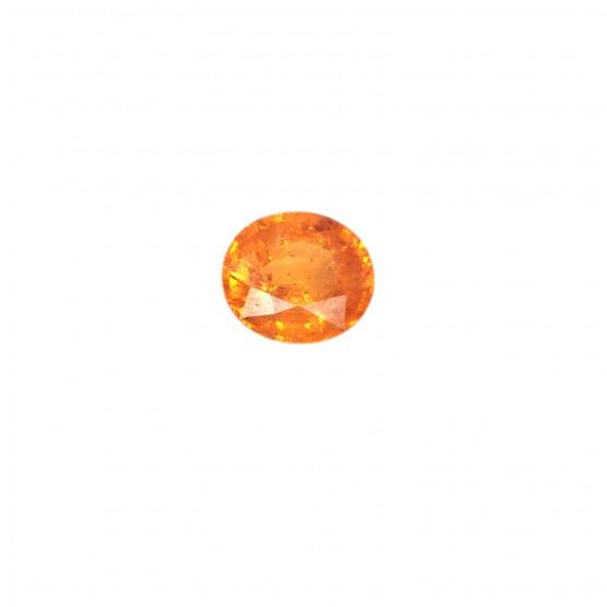 Mandaringranat oval facettiert 11,5x10 mm