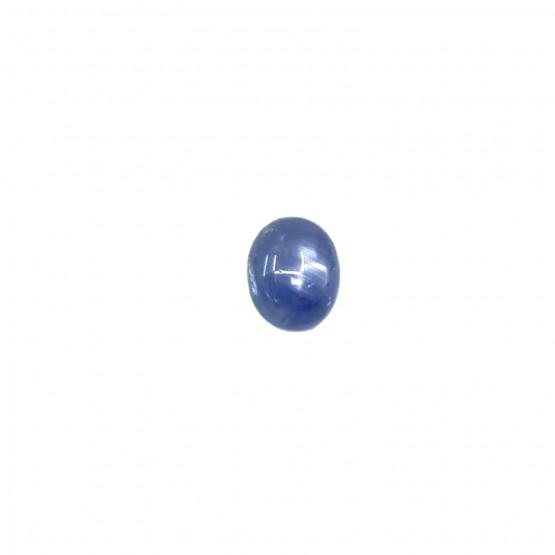 Sternsaphir ovaler Cabochon ca. 7x6 mm