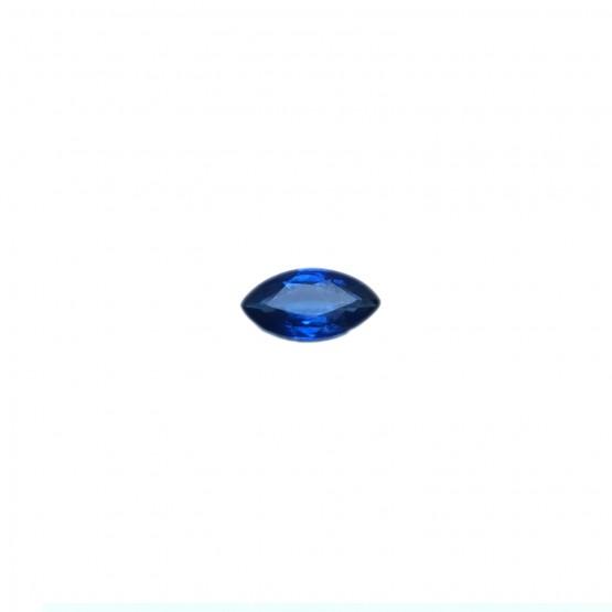 Saphir Navette facettiert ca. 9x4,5 mm