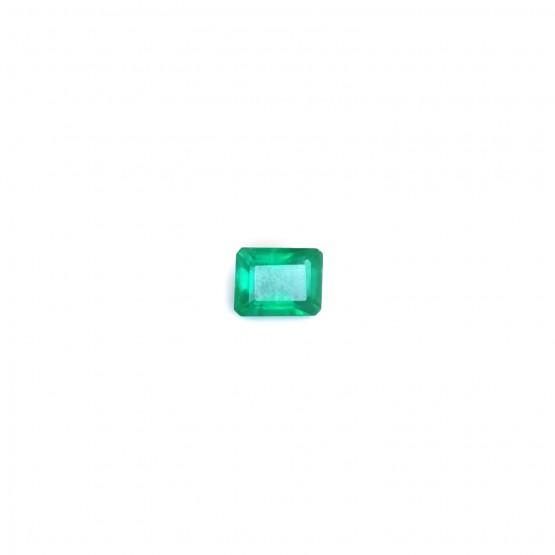 Smaragd Rechteck facettiert ca. 7x6 mm