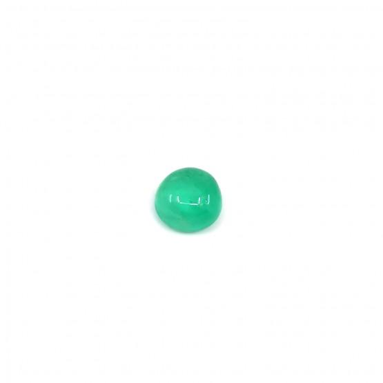 Smaragd runder Cabochon ca. 7 mm