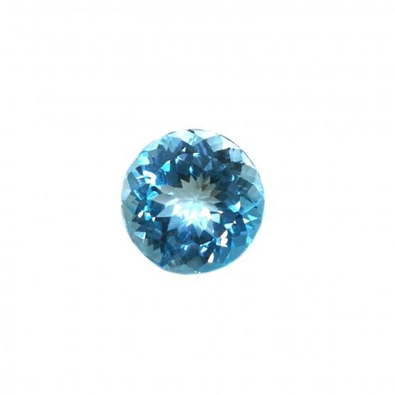 Blautopas rund facettiert ca. 20 mm