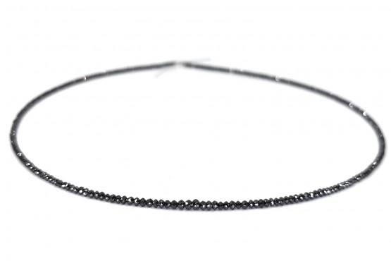 Schwarze Diamantkette Rondell facettiert ca. 2 mm