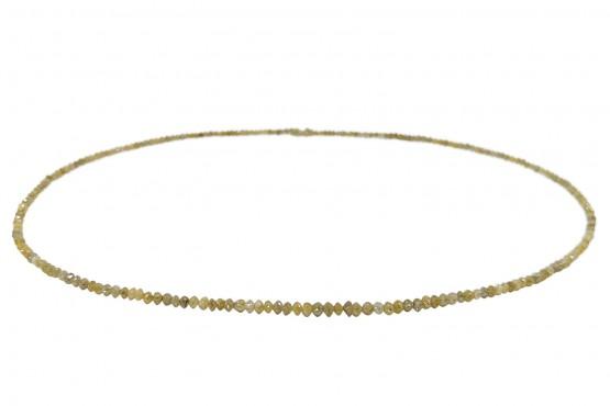 Hellgelbe Diamantkette facettiert ca. 2-3 mm