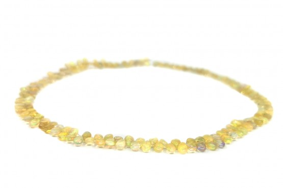 Opalkette gelb Tropfen ca. 6 mm