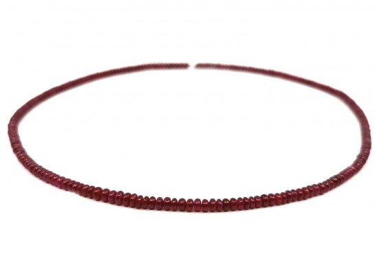 Rubinkette Rondell ca. 4-3,5 mm
