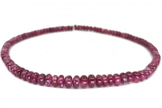 Rubinkette Rondell ca. 8-6 mm