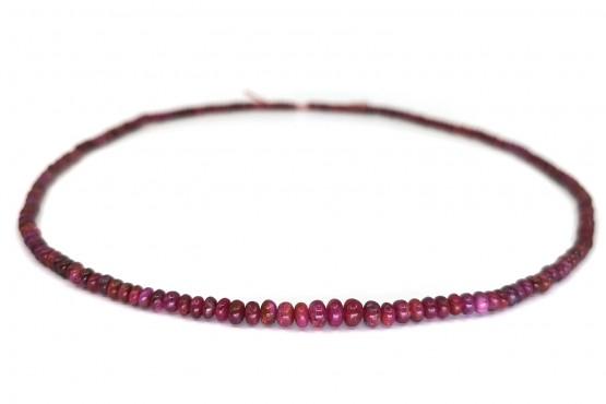 Rubinkette Rondell ca. 5-2,5 mm