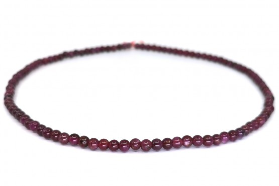 Rubinkette Kugel ca. 4,5 mm