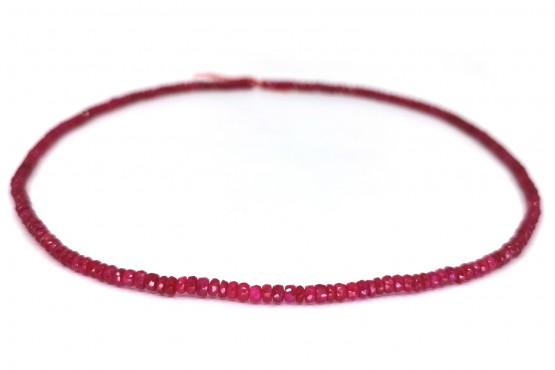 Rubinkette Rondell facettiert ca. 3,6 mm
