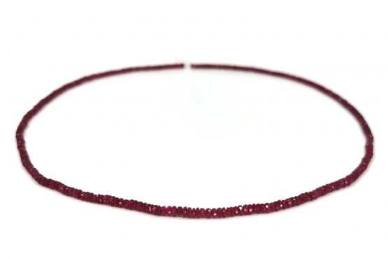 Rubinkette Rondell facettiert ca. 3 mm
