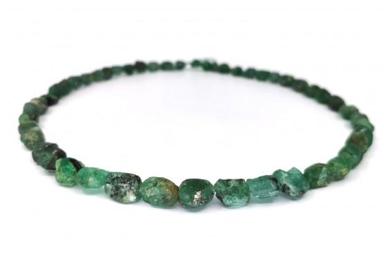 Smaragdkette Naturstein ca. 9-5 mm